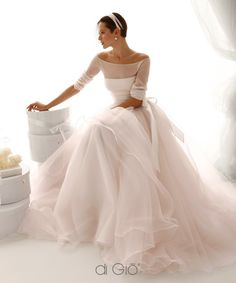 Off Shoulder Long Sleeves Ball Gown Organza Wedding Gown Wedding dress, bridal dress Beautiful Gowns, Beautiful Outfits, Yes To The Dress, Dress Up, Wedding Designs, Wedding Styles, Wedding Ideas, Bridal Dresses, Wedding Gowns