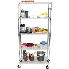 """COSTCO SUGGESTED PRICE - $99.99 -In Office (Bedroom) TRINITY EcoStorage™ NSF 5-tier All-purpose 36"""" Wide Chrome Shelving Rack (36"""" x 18"""")"""