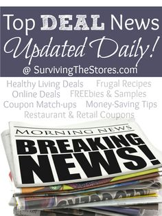 HUGE round-up of the best deals, freebies, frugal recipes, coupon matchups for your local stores, and more that we posted this past week!! (plus some great new deals too!)