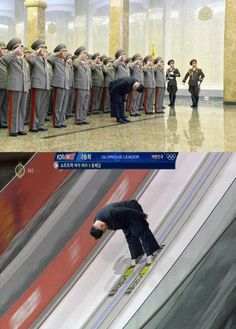 Funny pictures about Glorious Leader Is The Best At Everything. Oh, and cool pics about Glorious Leader Is The Best At Everything. Also, Glorious Leader Is The Best At Everything photos. Very Funny Memes, Wtf Funny, Hilarious, Nordic Combined, Aesthetic Memes, Funny Troll, Ski Jumping, Retro Pop, World Records