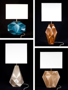 Radiant lamps in coloured straw marquetry by Jallu Ebenistes, France #lighting #interiordecoration #jpwarreninteriors
