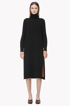 [TIME] Wool angora blend turtle neck dress