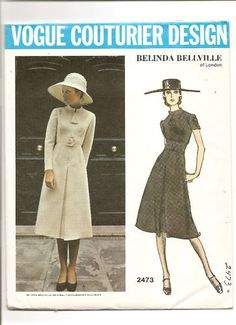 Vintage Vogue Couturier Design Sewing Pattern 2473 by Belinda Bellville of London via Ms Hepburns Closet: Vogue Paris Original Favorites & Vogue Couture Design