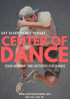 EAT SLEEP DANCE REPEAT - CENTER OF DANCE