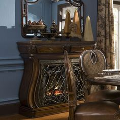 Fireplaces | Michael Amini Furniture Designs available at #EnchantingEmbellishments