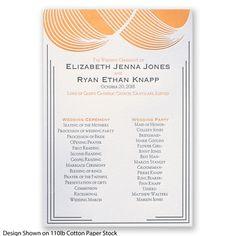 Make An Impression Letterpress - Wedding Program #Letterpress #DavidsBridal #WeddingStationery http://www.invitationsbydavidsbridal.com/Wedding-Invitations/Wedding-Programs/2947-DBP33030-Make-An-Impression-Letterpress--Program.pro?&sSource=Pinterest&kw=Letterpress_DBP33030