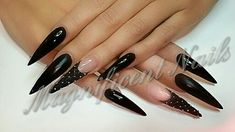 My nails. Made by Cynthia from Magnificent Nails Arnhem #stiletto #stilettos #stilettonails #nails #quilted #quiltednails #blacknails #black #nailart #naildesign #chesterfield #MagnificentNails  #Arnhem #nagels #stilettonagels #bitch #pointy #puntnagels #reallongnails #realstilettos #longnails