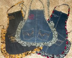 Geen recept, maar wel een leuk idee om een schort te maken van oude jeans.