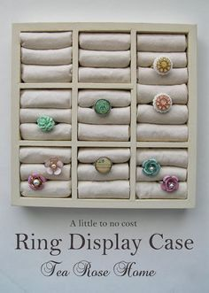 How to Make a Vertical Ring Display and the Use of Anti-Tarnish Cloth ~ The Beading Gem's Journal