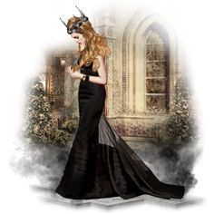 Halloween #3: Queen Of Nothing by xmikky on Polyvore featuring art