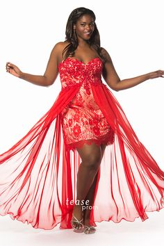 e4a3232a31 2016 Plus Size Prom Dresses Hot Red Lace Applique Beads Short Sheath Party  Evening Gowns with Tulle Overskirts Women s Elegant Cocktail Gown
