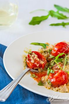 Roasted Cherry Tomato Quinoa