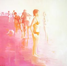 Sweet, summerly beach memories by Lisa Golightly. On the blog today! http://www.artisticmoods.com/lisa-golightly-2/