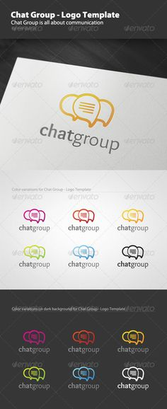 chat group logo template flash animationlogo
