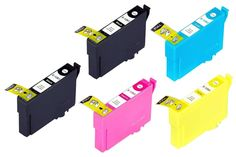 5 Combo Black and Color Pack Epson T124 Ink Cartridge Epson Stylus NX125 NX330 NX420 NX430 320 323 325 435