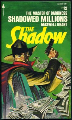 The Shadow 12 - Shadowed Millions - Steranko cover Pulp Fiction Art, Pulp Art, Book Cover Art, Comic Book Covers, Nick Fury, Indiana Jones, Andy Warhol, Comic Book Artists, Comic Books