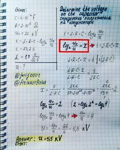 Determine the voltage on the capacitor The capacity of the high-voltage capacitor in the TV 4 UF. In parallel with the capacitor, a… Engineering Science, Mechanical Engineering, Math Formula Sheet, Physics Projects, Learn Physics, Math Answers, Physics Formulas, Physics Notes, Science Boards