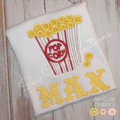 Personalized Carnival Circus Popcorn birthday shirt Custom made Birthday Boys Girls monogram short long sleeve custom embroidered sew cute