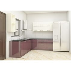 Scaleinch Now Offers Beech L Shaped Kitchen Which Is A Premium Modern Kitchen Cabinet Designed With Plywood/Engineering Wood Comes With laminate Finish. Modern Kitchen Furniture, Modern Kitchen Cabinets, Kitchen Units, Kitchen Cabinet Design, Modern Kitchen Design, Home Decor Kitchen, L Shaped Kitchen Interior, L Shaped Kitchen Designs, Interior Design Kitchen