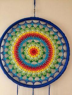 ONE Crochet Earrings Pattern, Earring pattern, PDF File - Crochet openwork hoop earrings - PDF, pattern for advanced crocheters Crochet Earrings Pattern, Crochet Mandala Pattern, Crochet Art, Crochet Home, Crochet Crafts, Yarn Crafts, Crochet Projects, Crochet Patterns, Dreamcatcher Design
