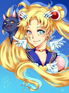 Luna and Sailor Moon