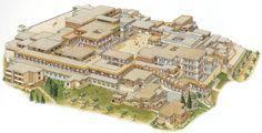 Ricostruzione del Palazzo di Cnosso, Creta, II millennio a.C, minoico