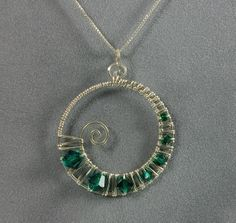 Handmade Sterling Silver and Swarovski Crystal by MystikCritterZ, $25.00