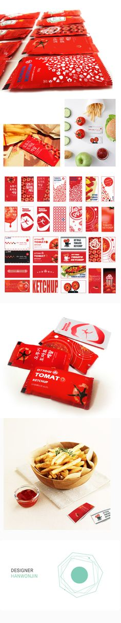 Ottogi Disposable Tomato Ketchup Grapic Design