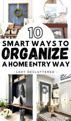 Small Space Organization, Home Organization Hacks, Organizing Your Home, Organizing Tips, Entryway Storage, Entryway Decor, Entryway Organization, Declutter Your Life, Storage Places