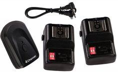 RioRand (TM) 4 Channels Wireless Hot Shoe Flash Trigger and 2 Receivers Set for Canon Nikon Pentax:Amazon:Camera & Photo
