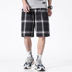 BAGGY PLAID SHORTS Plaid Shorts, Patterned Shorts, Hip Hop Shop, Hip Hop Outfits, Streetwear, Retro, Clothes, Products, Fashion