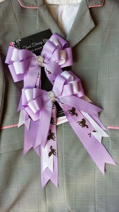 Pair of Medium Boutique Horse Show Bows w/ by ShortStirrupBling, $23.00