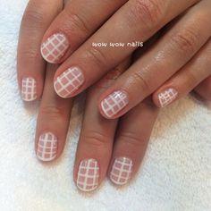 Andrea's nail design! #springnails #geonails #stripes #lines #whitenails #negativespace #fashion #nailart #nailgame #nailgasm #nailporn #nailjunkie #nailsdid #notd #nailsrock #wowwownails #toronto