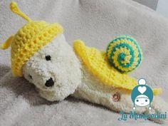 Crochet snail baby set. Caracol em crochê.