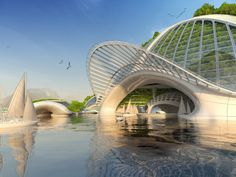 "Underwater City ""Seascraper"" 3D Printed from Recycled Trash 