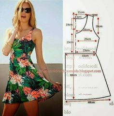 Trendy Sewing Clothes Diy Dress How To Make Ideas Diy Clothing, Sewing Clothes, Dress Sewing Patterns, Clothing Patterns, Pattern Sewing, Free Pattern, Sundress Pattern, Summer Dress Patterns, Fashion Sewing