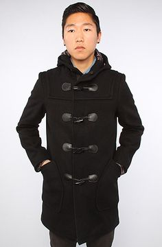 Schott NYC The 24oz Natural Duffle Coat in Oxford Gray : Karmaloop ...