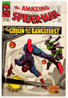 The Green Goblin hurling pumpkin bombs in The Amazing Spider-Man Volume 1 Issue 23 - Steve Ditko & Stan Lee perfection Marvel Comics, Hq Marvel, Marvel Comic Books, Comic Book Heroes, Comic Books Art, Spiderman Marvel, Spiderman Spider, Amazing Spiderman, Spiderman Classic