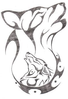 wolf howling drawings in pencil - Google Search- unknown artist/creator- not mine