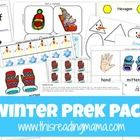 Have fun practicing early literacy and math skills with a winter theme (snow, snowmen, and winter clothing). Included in this pack are pre-reading...