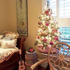 Victorian Christmas decor.