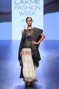 Look 11 Shibori Cape with Jamdani Skirt and Batik Dupatta