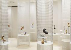 Lucca llena shoe store by Ryutaro Matsuura, Osaka shoes Shoe Store Design, Retail Store Design, Retail Shop, Shoe Display, Display Design, Showroom, Lucca, Design Commercial, Retail Merchandising