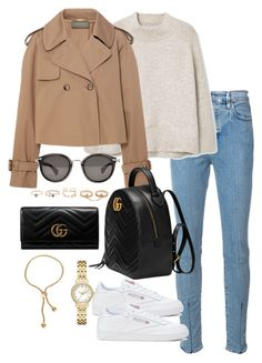 """""""Untitled #4611"""" by theeuropeancloset on Polyvore featuring Levi's Made & Crafted, MANGO, Alberta Ferretti, Reebok, Moncler, Gucci, LULUS, Kate Spade and Snö Of Sweden"""