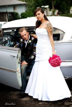 rockabilly wedding hotness