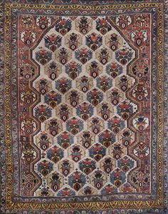 TRIBAL VERAMIN CARPET - SOUTH WEST IRAN          Circa 1920s  Natural / vegetable dye  Approx. 5ft 11in x 4ft 7in (180.30 x 141 cms