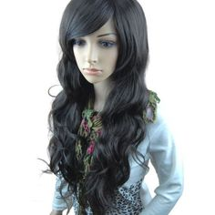 Valentine's Day Amazing Gift for Her-MelodySusie New Fashion fluffy Black Long full Wig Hair Curl Wigs