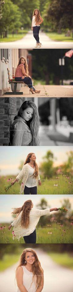 Top 3 photos // Class of 2016 senior portraits Des Moines, Iowa senior portrait photographer, Randy Milder Senior Pics, Senior Portraits Girl, Photography Senior Pictures, Senior Girl Poses, Girl Senior Pictures, Senior Portrait Photography, Photography Poses, Senior Session, Senior Year