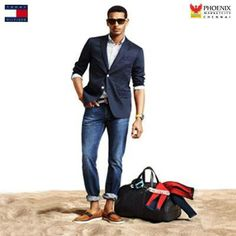 Tommy Hilfiger Spring/Summer 2014 -Can't improve on this! Fashion Moda, Look Fashion, Mens Fashion, Fashion Menswear, Tommy Hilfiger, Sharp Dressed Man, Well Dressed Men, Stylish Men, Men Casual