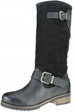 Wrangler Cyril Nico Black Zip Biker Boots Long Fleece Ladies field Buckle
